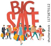big sale vector concept for web ... | Shutterstock .eps vector #1171875112