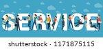 service vector concept for web... | Shutterstock .eps vector #1171875115