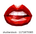 woman's open mouth with sexy... | Shutterstock .eps vector #1171875385