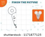 copy and complete the picture... | Shutterstock .eps vector #1171877125