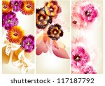 floral vector  cards | Shutterstock .eps vector #117187792