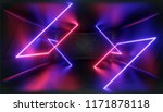 3d render. geometric figure in... | Shutterstock . vector #1171878118