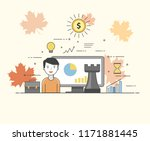 it solutions. smart... | Shutterstock .eps vector #1171881445