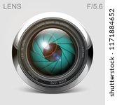 set camera lens object glass... | Shutterstock .eps vector #1171884652