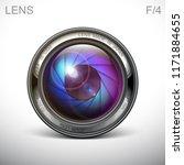 set camera lens object glass... | Shutterstock .eps vector #1171884655