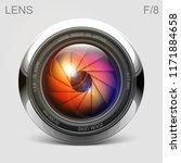 set camera lens object glass... | Shutterstock .eps vector #1171884658
