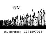 silhouette of wheat in the... | Shutterstock .eps vector #1171897015