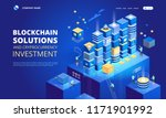 cryptocurrency and blockchain...   Shutterstock .eps vector #1171901992