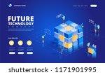 technology isometric concept.... | Shutterstock .eps vector #1171901995