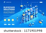 cryptocurrency and blockchain... | Shutterstock .eps vector #1171901998