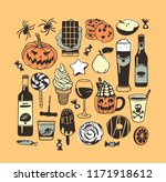 hand drawn illustration candy ... | Shutterstock .eps vector #1171918612