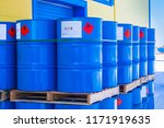 barrels. warehouse of chemical...   Shutterstock . vector #1171919635