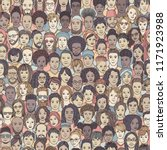 diverse crowd of people  ... | Shutterstock .eps vector #1171923988