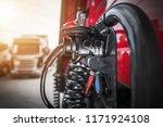 semi truck trailer electric... | Shutterstock . vector #1171924108