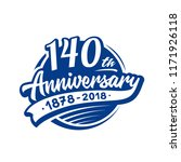 140 years anniversary design... | Shutterstock .eps vector #1171926118