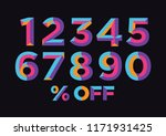 0  1  2  3  4  5  6  7  8  9...   Shutterstock .eps vector #1171931425