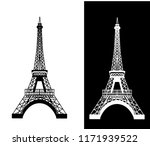 eiffel tower isolated vector... | Shutterstock .eps vector #1171939522
