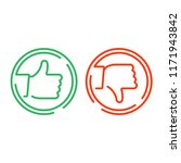like and dislike icon. thin... | Shutterstock .eps vector #1171943842