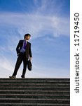 businessman posing on stairs... | Shutterstock . vector #11719450