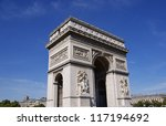 arc de triomphe paris france | Shutterstock . vector #117194692
