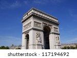 arc de triomphe paris france | Shutterstock . vector #117194692