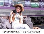travel concept. attractive... | Shutterstock . vector #1171948435