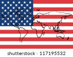 the flag of the united states... | Shutterstock .eps vector #117195532