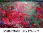 abstract  hand painted colorful ... | Shutterstock . vector #1171960675