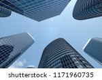 3d illustration low angle view... | Shutterstock . vector #1171960735