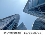 3d illustration low angle view... | Shutterstock . vector #1171960738