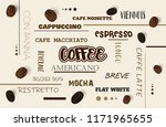 vector background with coffee... | Shutterstock .eps vector #1171965655