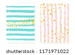 gold glitter sequins with dots. ... | Shutterstock .eps vector #1171971022