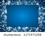 new year snowflakes on blue...   Shutterstock .eps vector #1171971358