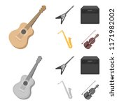 electric guitar  loudspeaker ... | Shutterstock .eps vector #1171982002