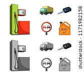 truck with awning  ignition key ... | Shutterstock .eps vector #1171982158