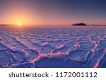 sunrise over lake covered with...   Shutterstock . vector #1172001112