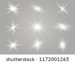 white glowing light explodes on ... | Shutterstock .eps vector #1172001265