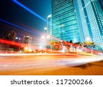 moving car with blur light... | Shutterstock . vector #117200266