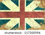 vintage english flag   Shutterstock .eps vector #117200596