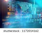 programming code abstract... | Shutterstock . vector #1172014162