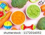 vegetable puree  carrots ...   Shutterstock . vector #1172016052