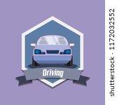 drive safely design | Shutterstock .eps vector #1172032552