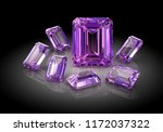 beautiful gems on black...   Shutterstock . vector #1172037322