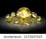beautiful gems on black...   Shutterstock . vector #1172037325