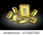 beautiful gems on black...   Shutterstock . vector #1172037352