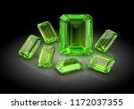 beautiful gems on black...   Shutterstock . vector #1172037355