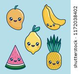 kawaii food design  | Shutterstock .eps vector #1172038402