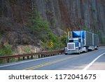 big rig american bonnet semi... | Shutterstock . vector #1172041675
