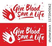 vector illustration of blood... | Shutterstock .eps vector #1172045062