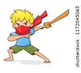 vector illustration of a boy... | Shutterstock .eps vector #1172045065